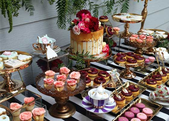 Cakes and sweets that would typically be served at High Tea