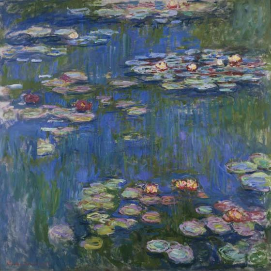 Flower art - Claude Monet's Water Lilies