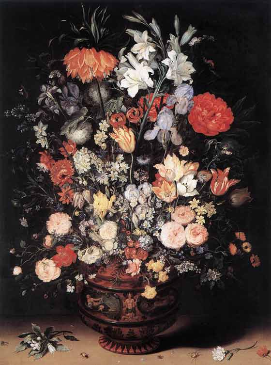Flower art - Jan Brueghel's 'The Elder Flowers in a Vase'
