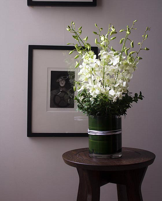 Flower care - flowers in vase placed away from direct sunlight