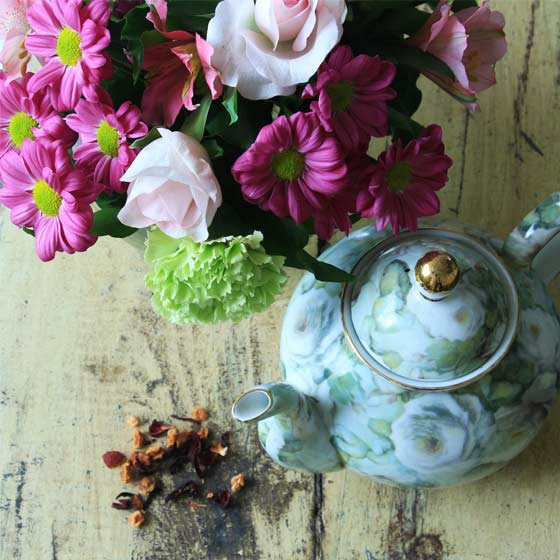 Flower tea also known as tisane tea