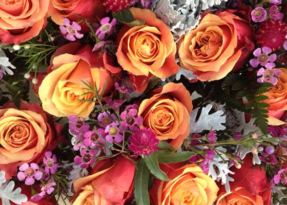 Orange roses are among some of the best flowers for mum on Mother's Day