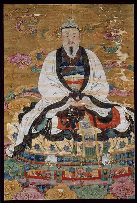 Tiled portrait of the Jade Emperor