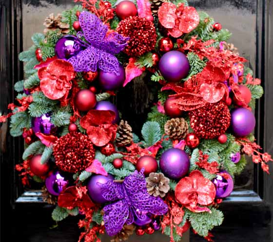 Christmas wreaths from The Flower Lounge
