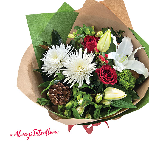 Interflora Australia Festive Blooms Arrangement