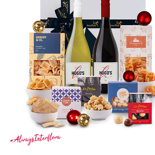 Interflora Red & White Wine Luxury Christmas Hamper