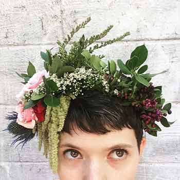 Flower Crowns at Stems Brooklyn