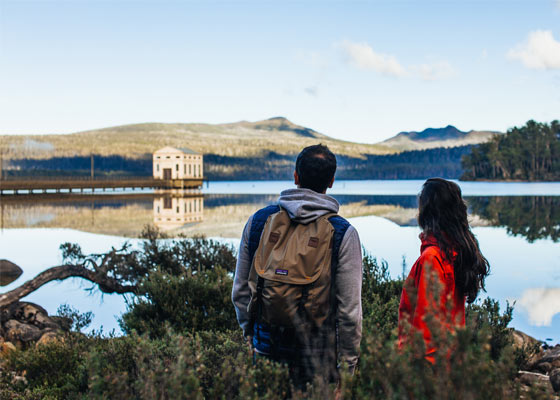 Pumphouse Point in Tasmania