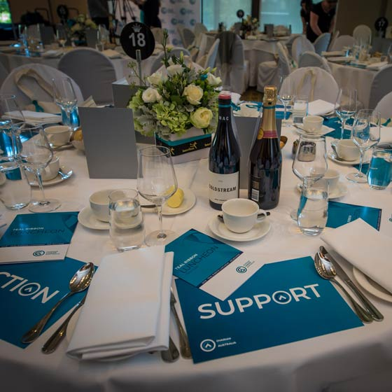 ovarian cancer teal lunch event interflora flowers