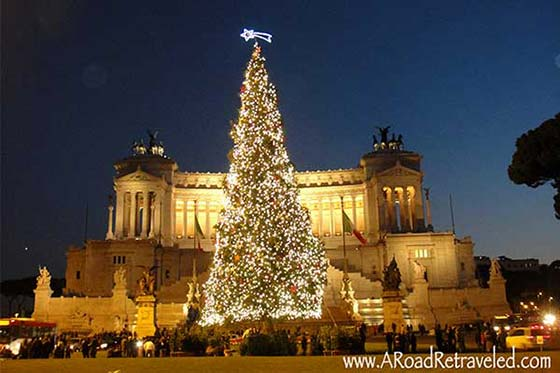 christmas trees in rome