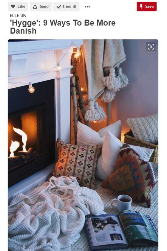 cosy nook infront of fireplace