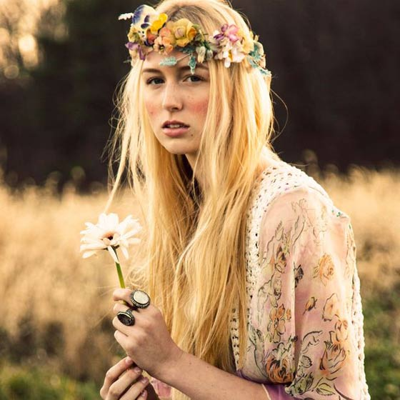 hippie flower child