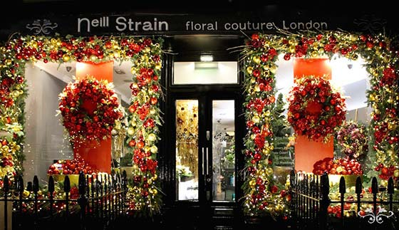 Christmas at neill strain floral couture london interflora for Hotel design ligurie