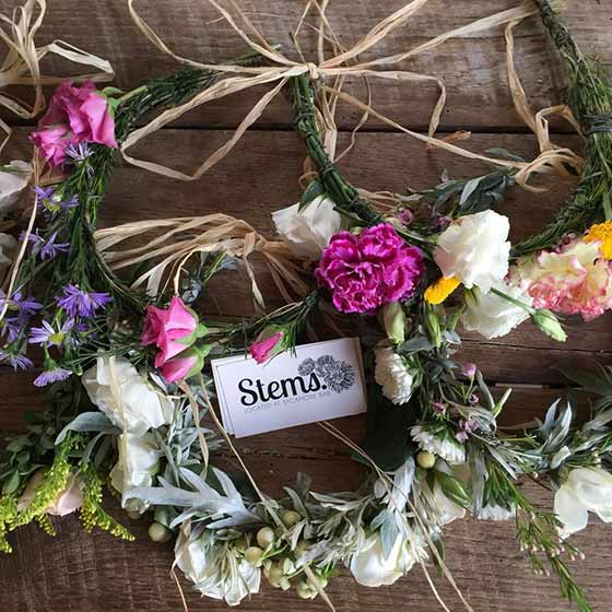 Whimsical Flower Crowns from Stems Brooklyn