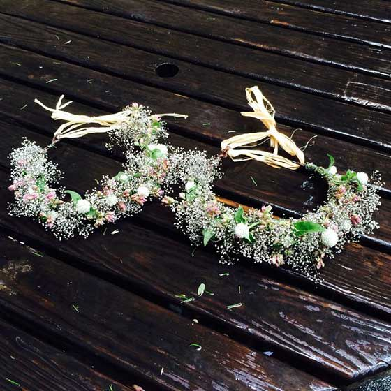 Flower Girl Flower Crown from Stems Brooklyn