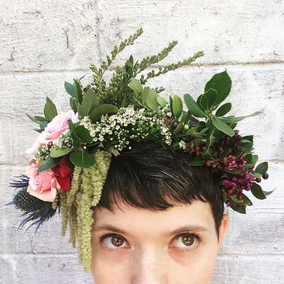 Wild Flower Crowns from Stems Brooklyn