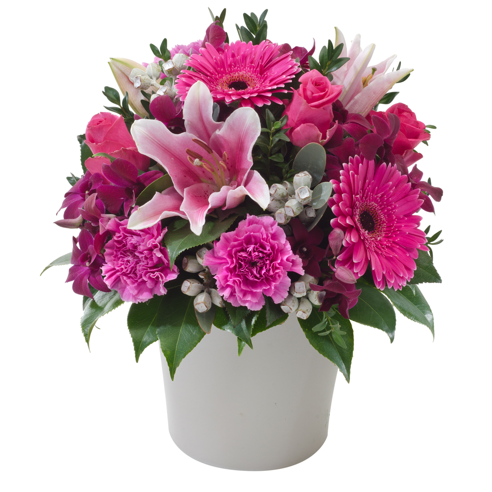 Image of Birthday Flowers - Pink Mixed Arrangement Flowers