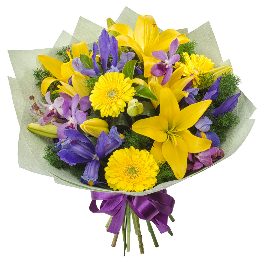 Image of Bouquet of Bright Mixed Flowers Flowers